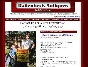Antiques & Estate Sales CMS Website Design