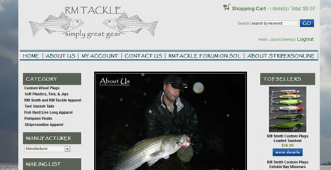 RM Tackle - ecommerce website design by Jamestown Internet Marketing